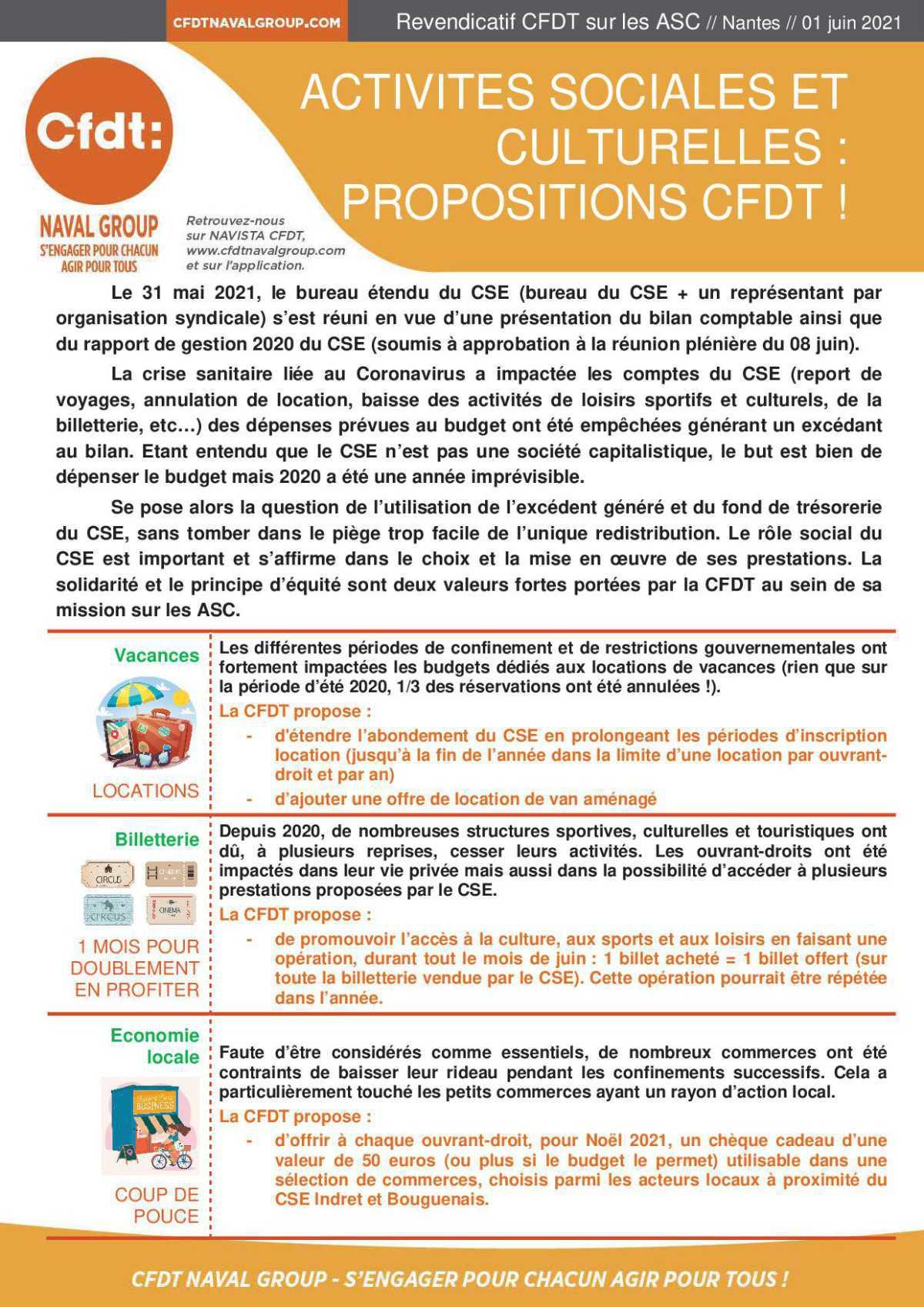 Proposition CFDT ASC 2021