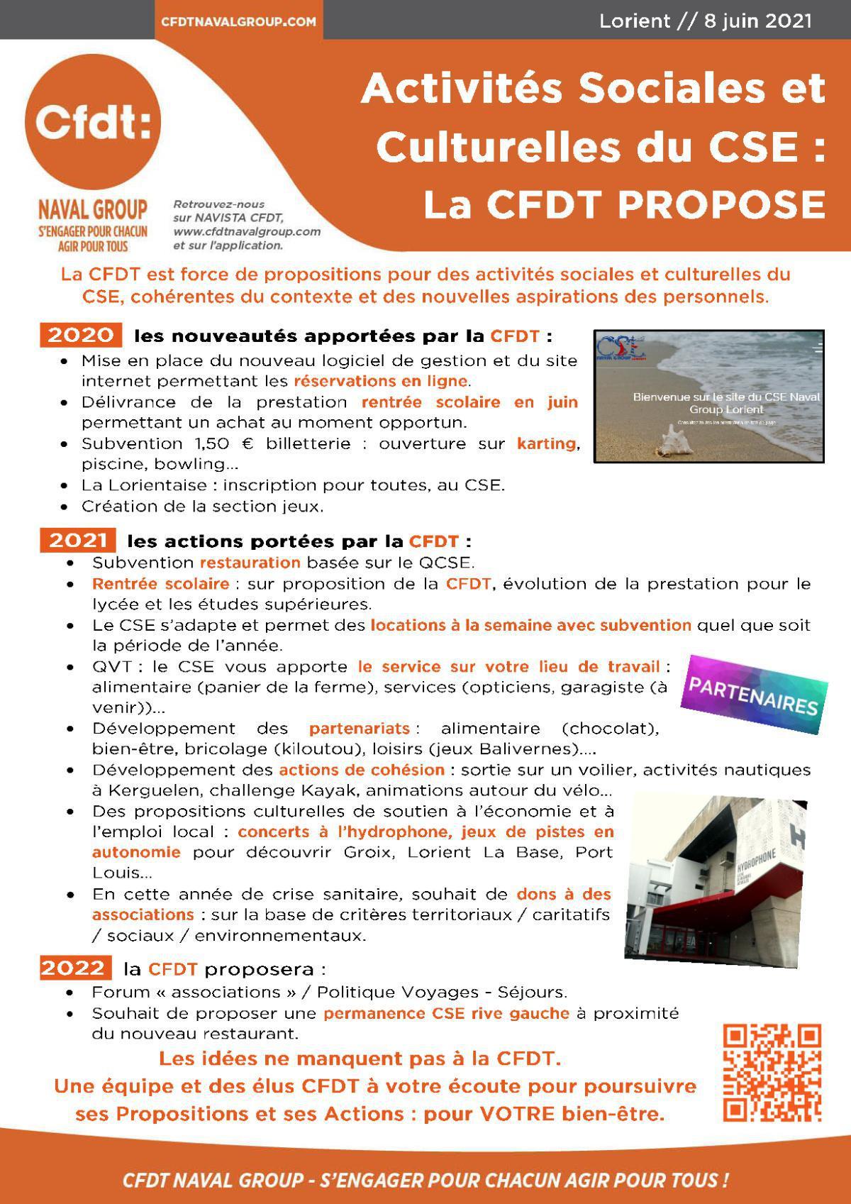 ASC du CSE : la CFDT propose