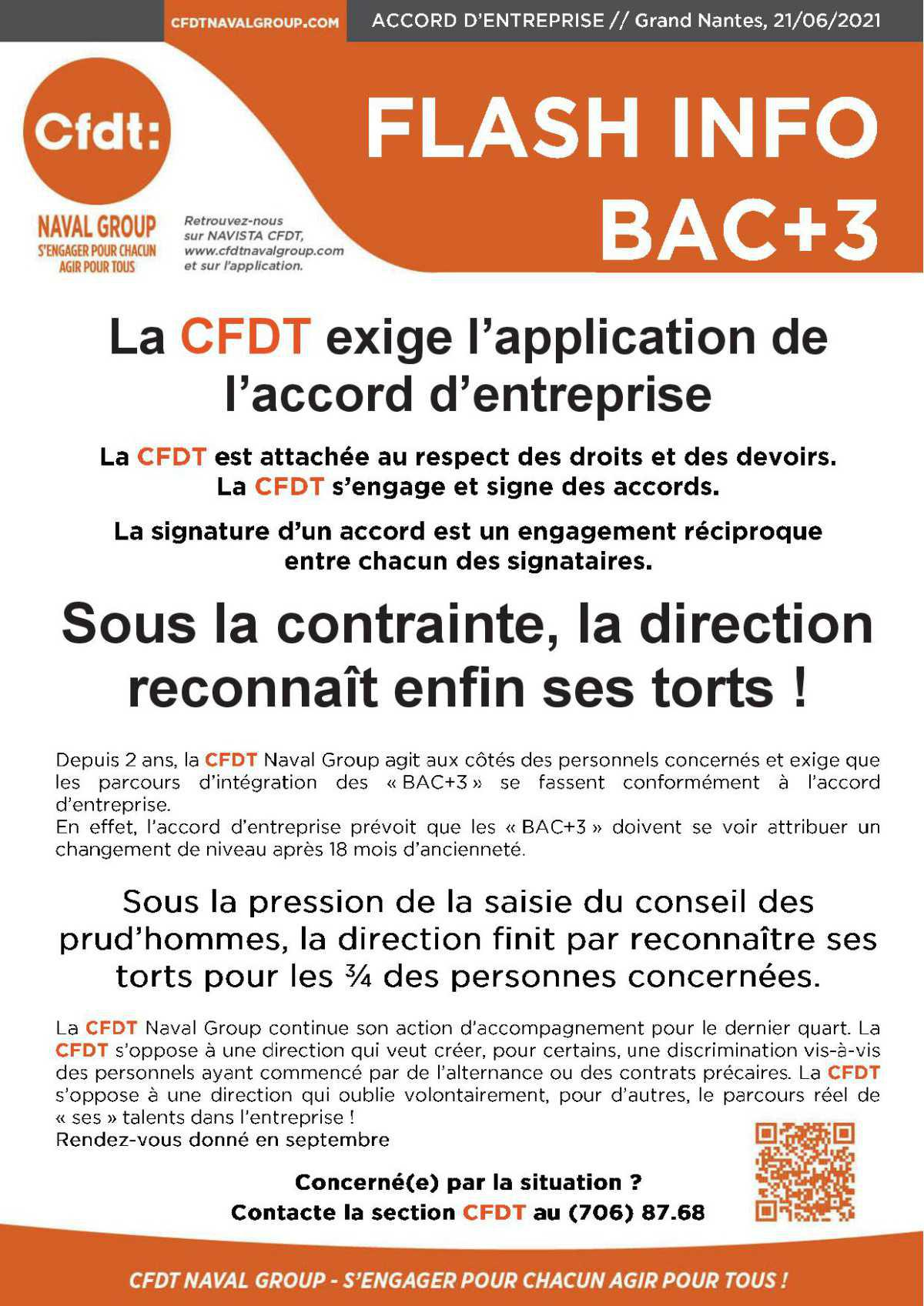 Flash info Bac +3