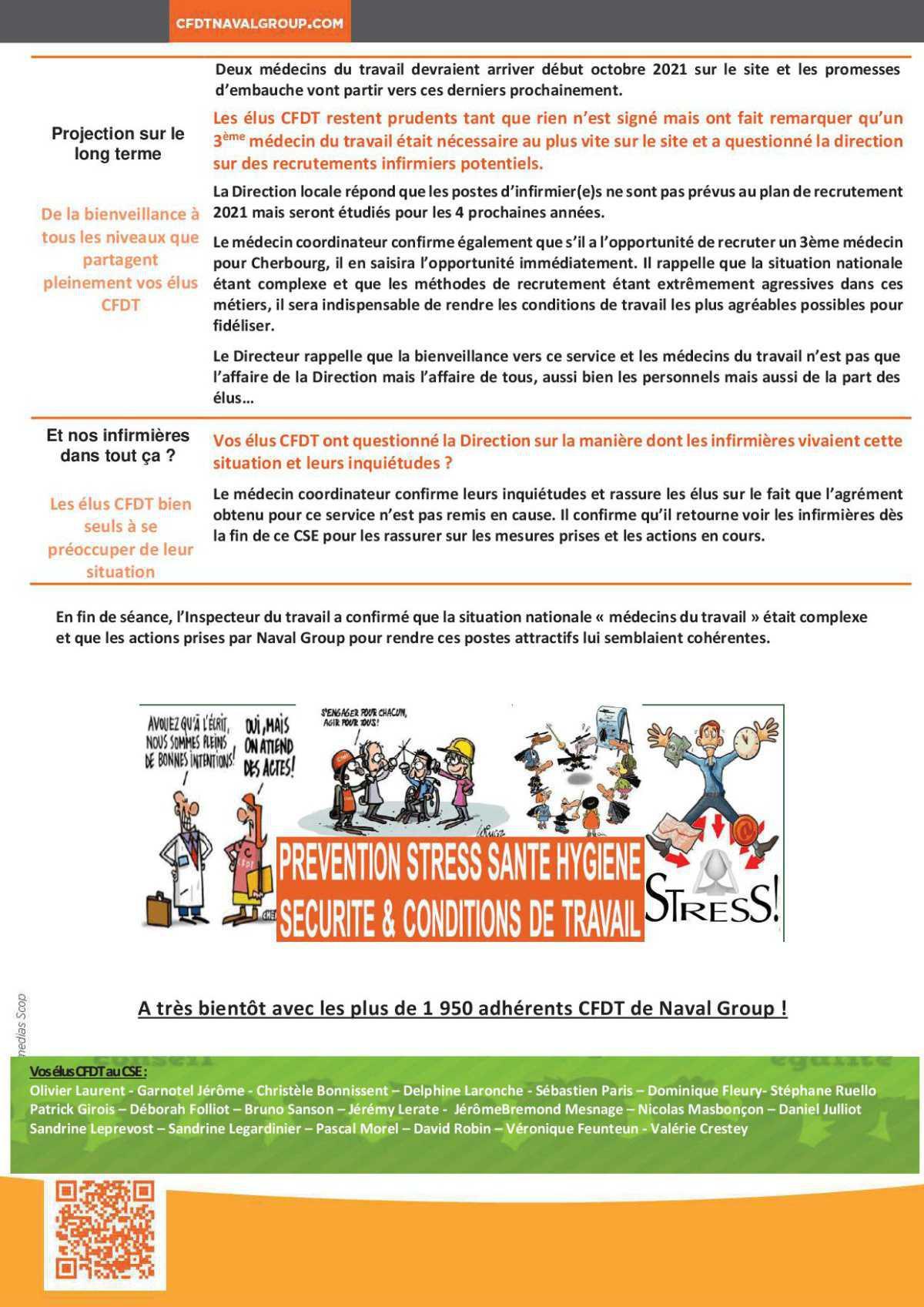 CR CSE extra du 24 Juin sur la médecine du travail