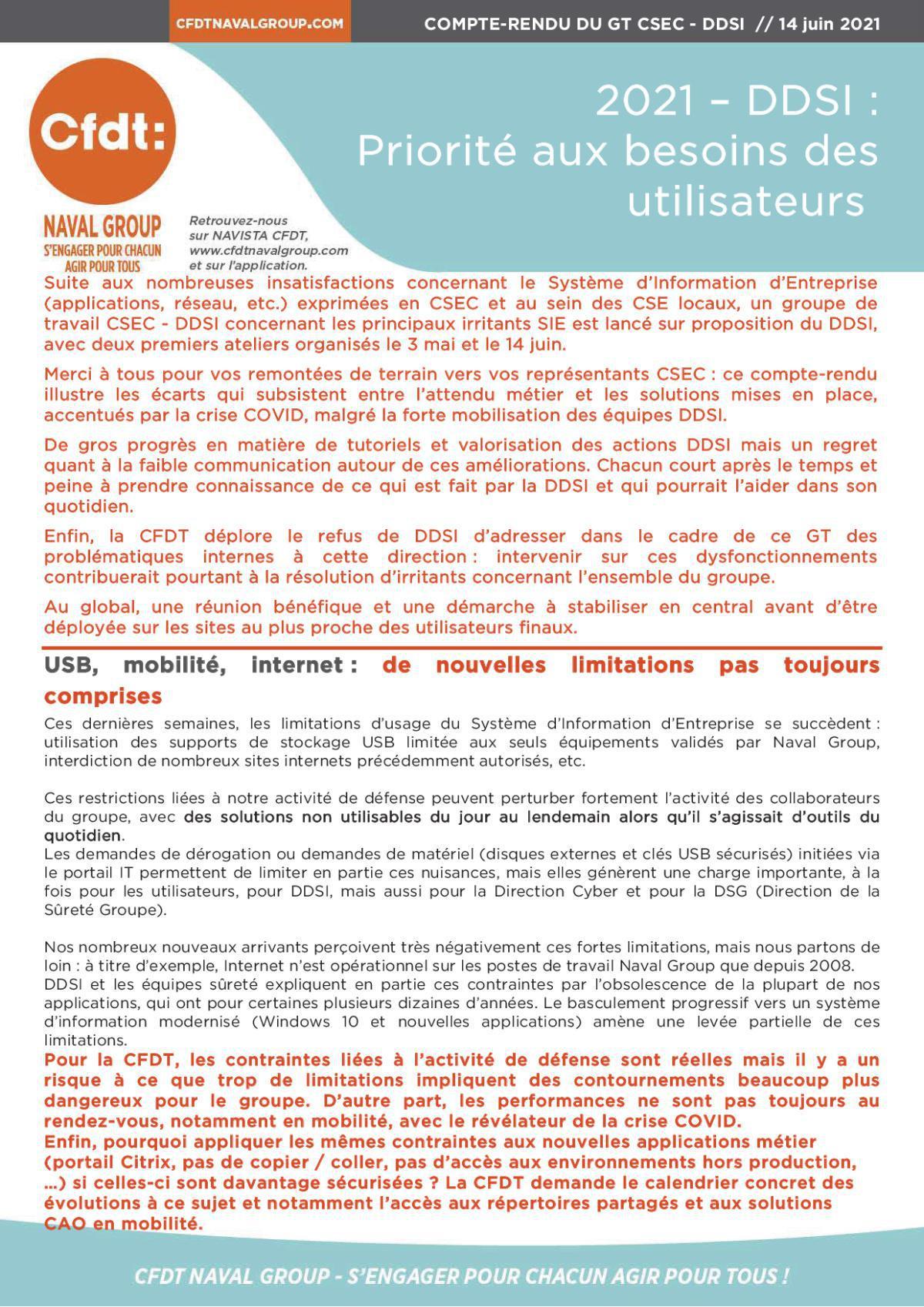 2021 - DDSI : Priorité aux besoins utilisateurs