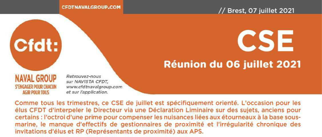 CR du CSE du 6 juillet 2021