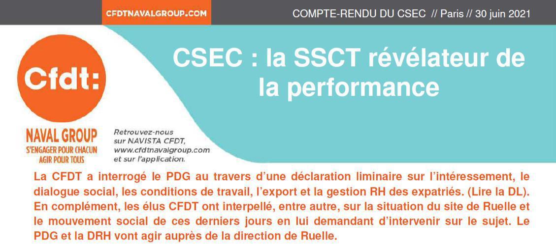 CR CSEC du 30 Juin et 1er Juillet 2021