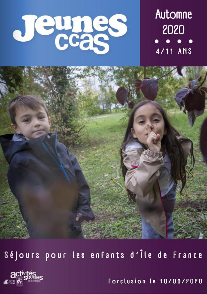 Catalogue séjours Jeunes Régional - Automne 2020
