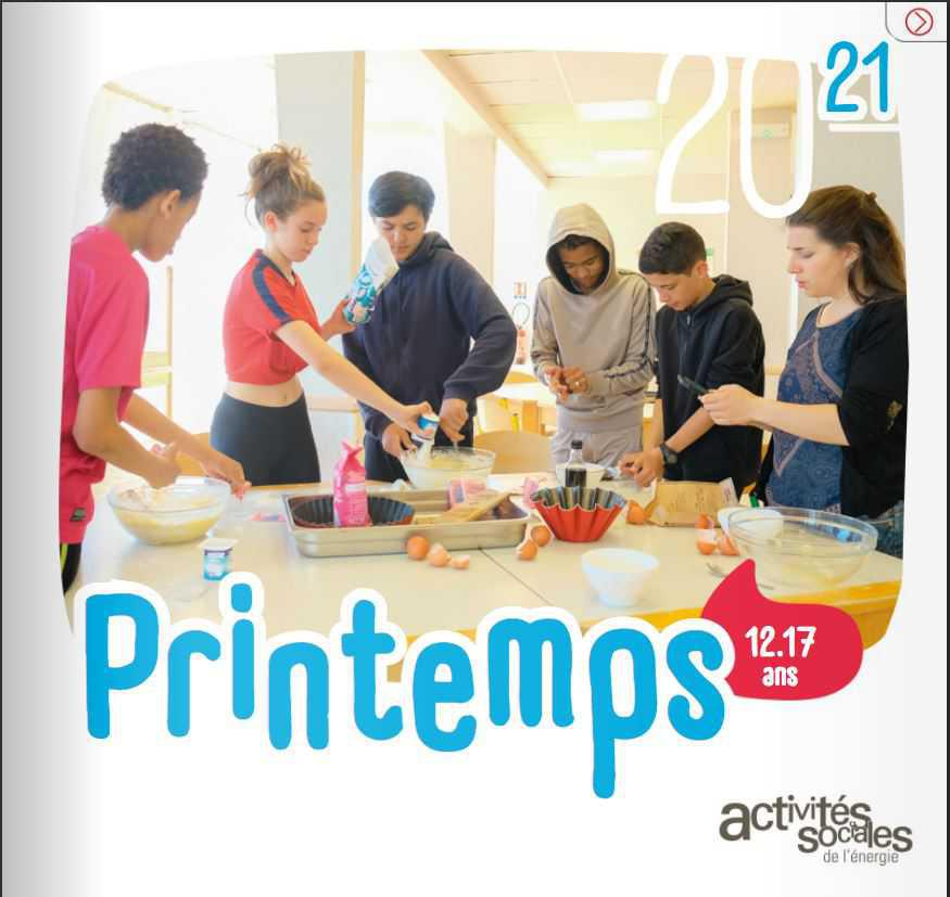 Catalogue séjour jeunes National - Printemps 2021