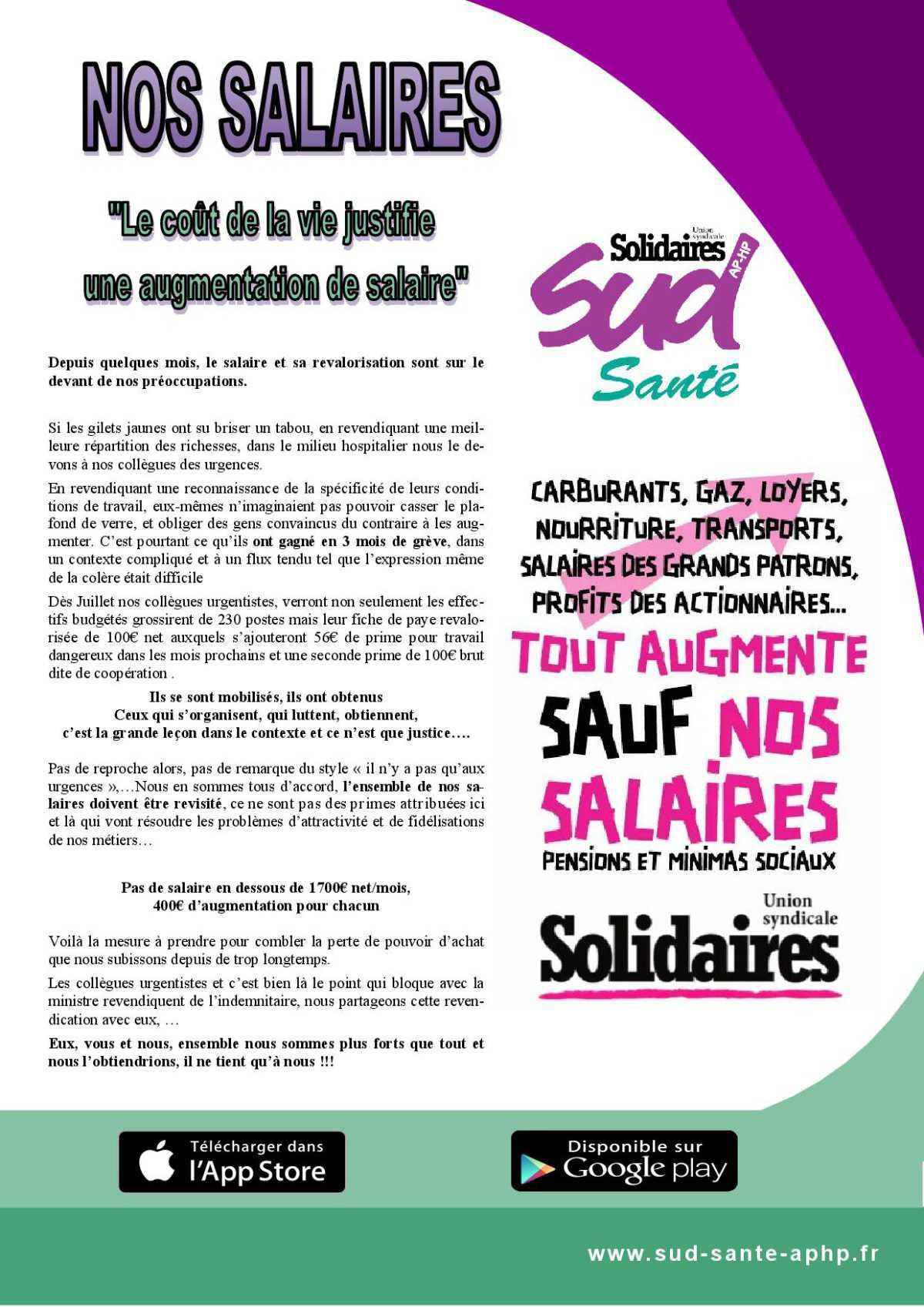 Nos Salaires: le coût de la vie justifie une augmentation de salaire
