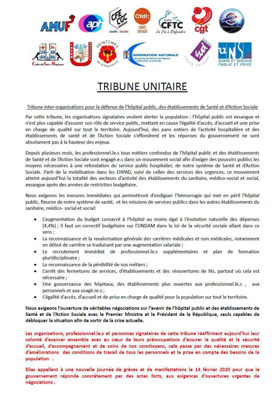 Tribune unitaire des hopitaux