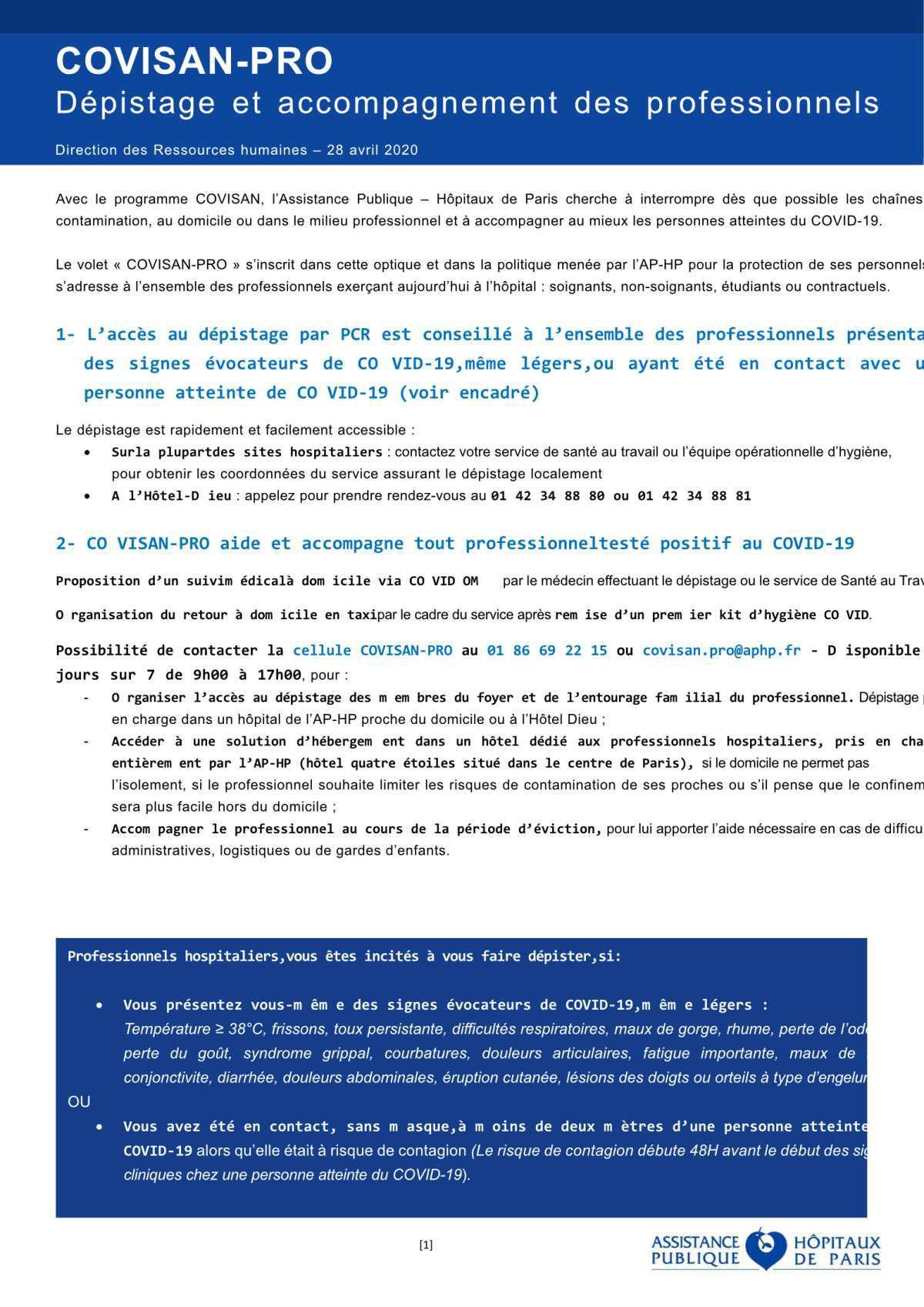 Diffusion générale COVISAN-PRO V8