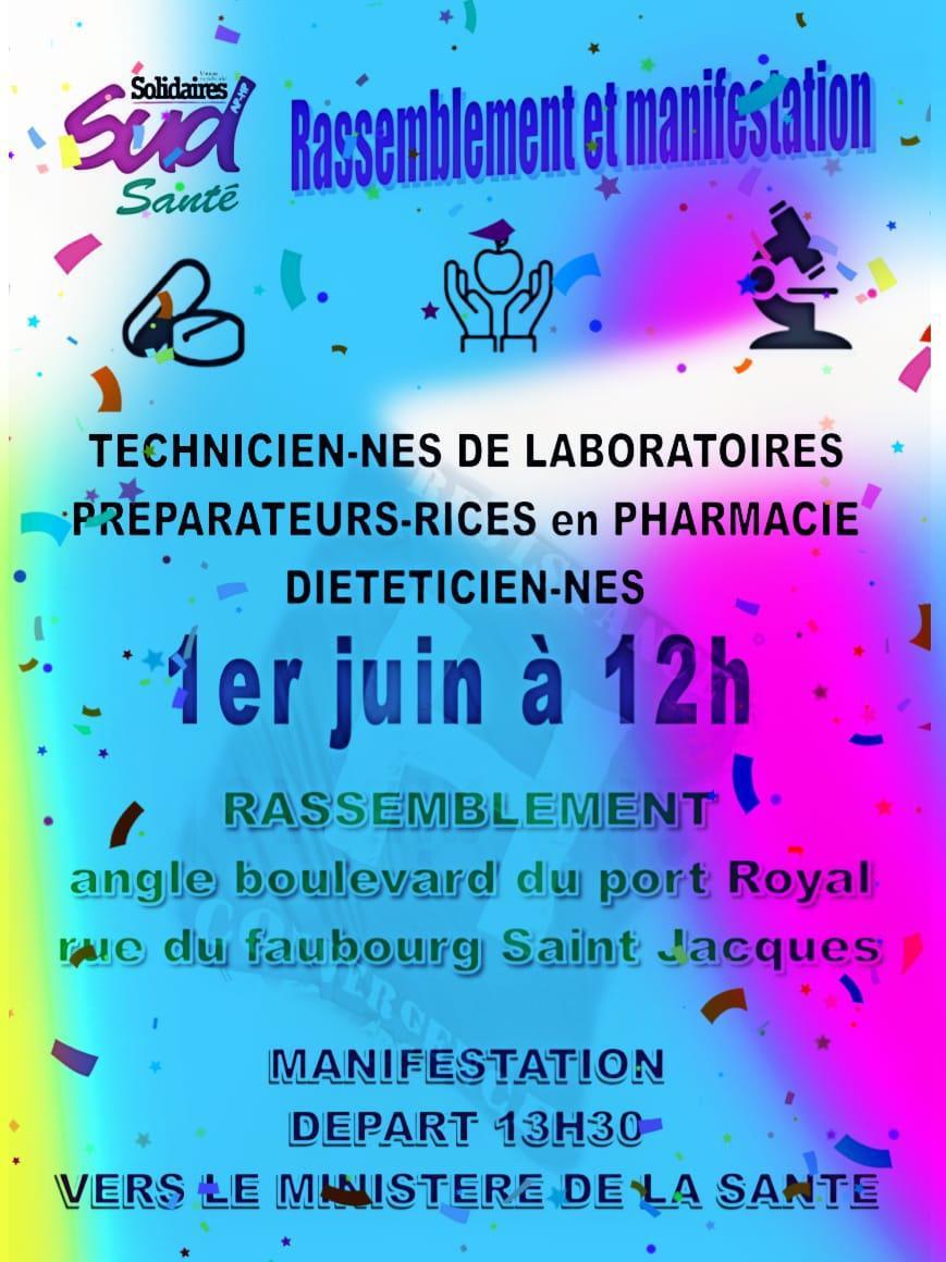 Tech labo, Diet, PPH, manifestation le 1er juin