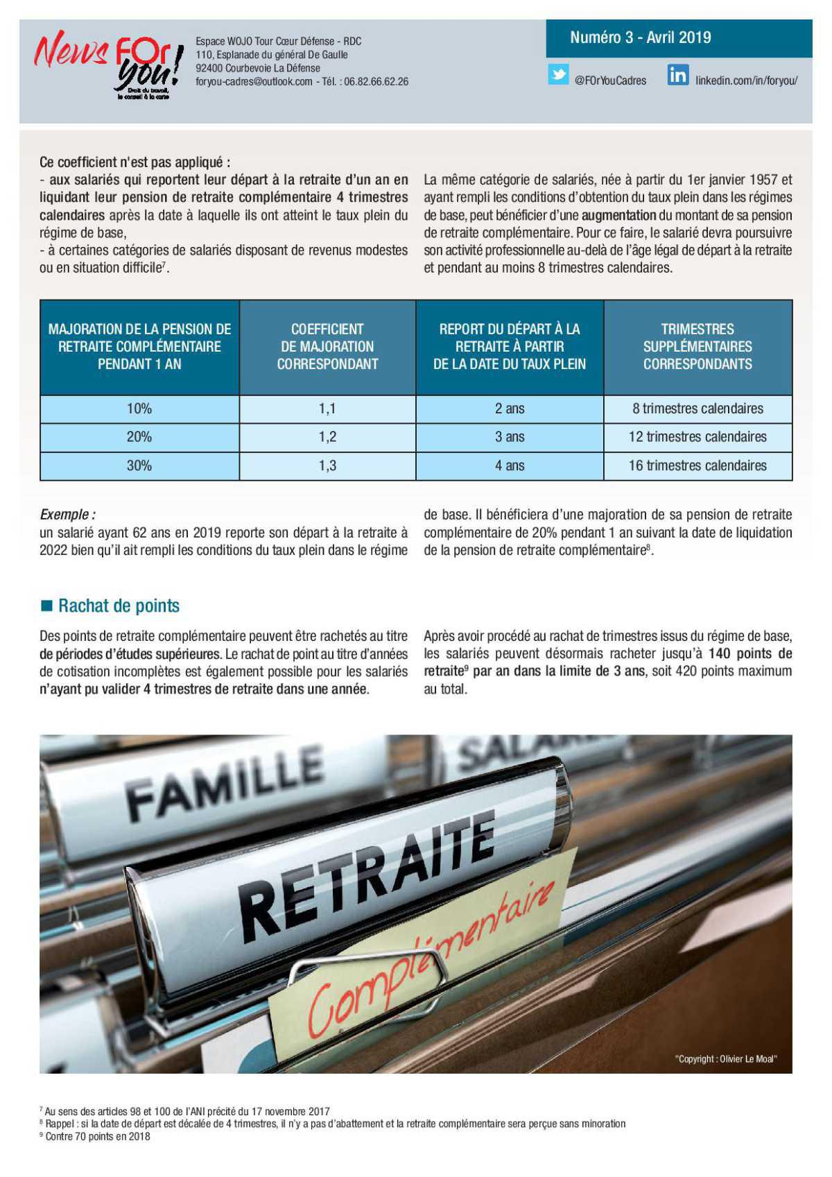 FUSION AGIRC-ARRCO : un nouveau régime de retraite complémentaire