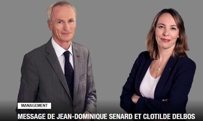 MESSAGE DE JEAN-DOMINIQUE SENARD ET CLOTILDE DELBOS AUX SALARIES DU GROUPE RENAULT