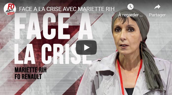 FO RENAULT FACE A LA CRISE : LES SALARIES D'ABORD