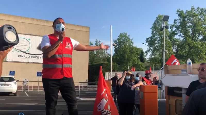 Les salariés de Renault Choisy-le-Roi mobilisés pour leur emploi et leur avenir.