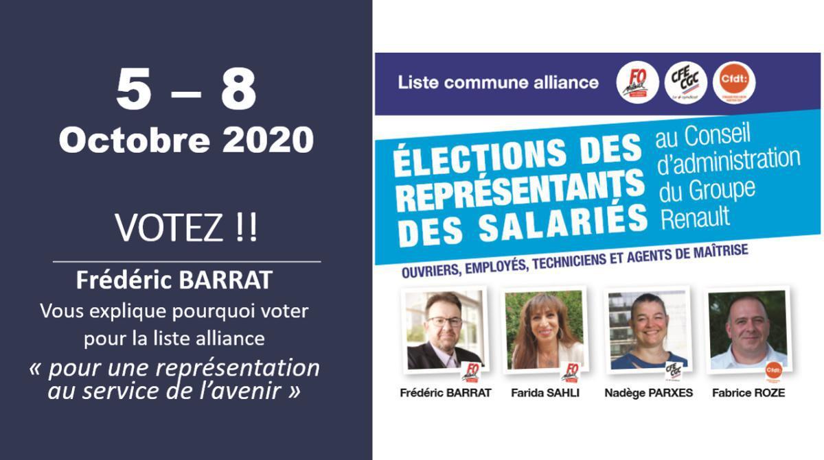 Elections des représentants des salariés au Conseil d'Administration Renault