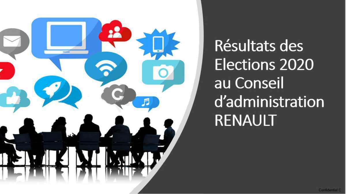 Résultats des élections au Conseil d'administration : Frédéric BARRAT élu pour vous représenter au Conseil d'administration.