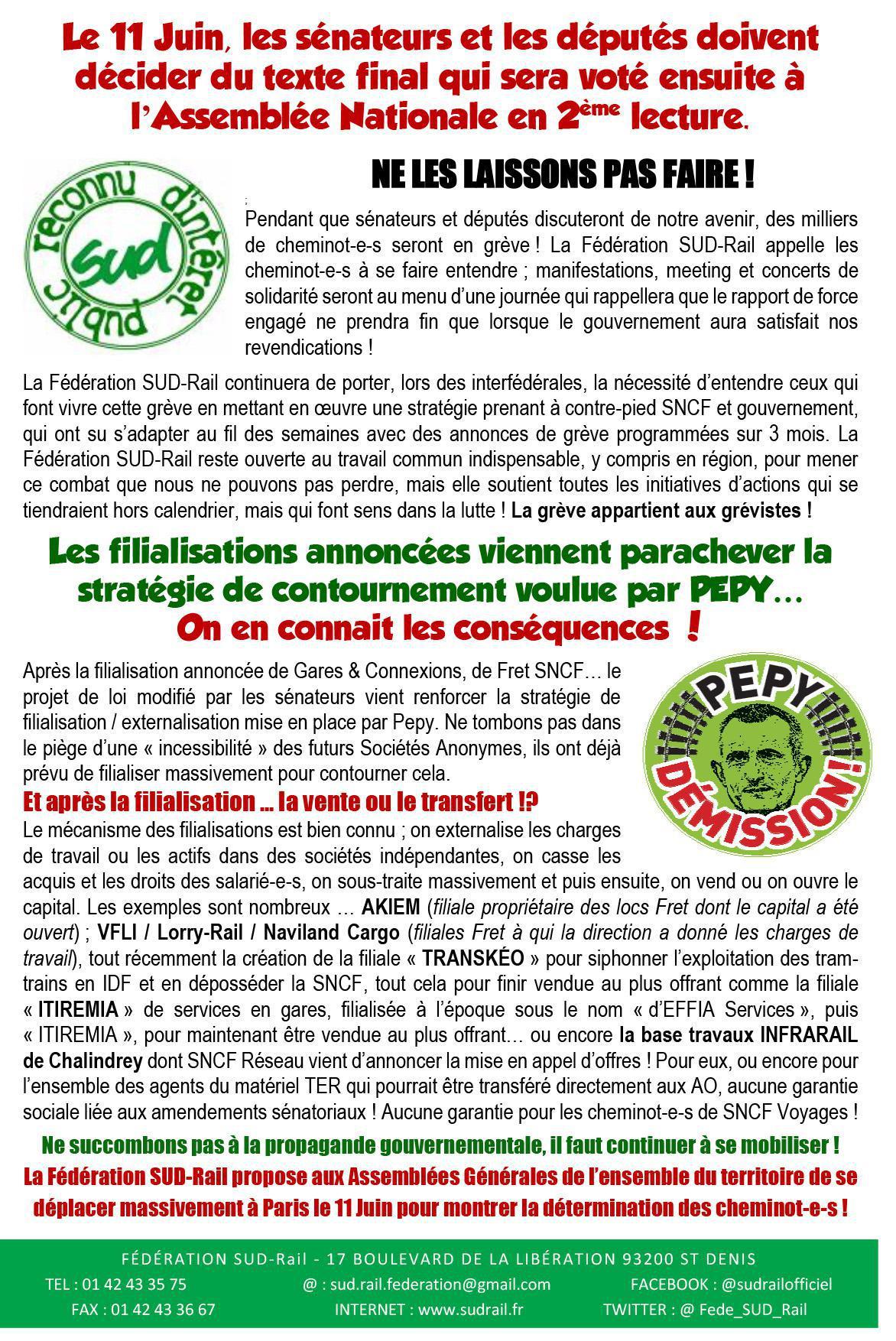 RAIL À DÉFENDRE N°24 - TOUS EN ASSEMBLÉE GÉNÉRALE LE 7 JUIN !