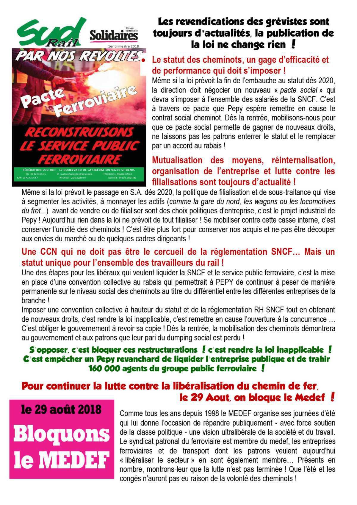 RAIL À DÉFENDRE N°30 - ILS NE VONT PAS S'ARRÊTER LÀ... PRÉSENTS TOUT L'ÉTÉ POUR PRÉPARER LA RENTRÉE !