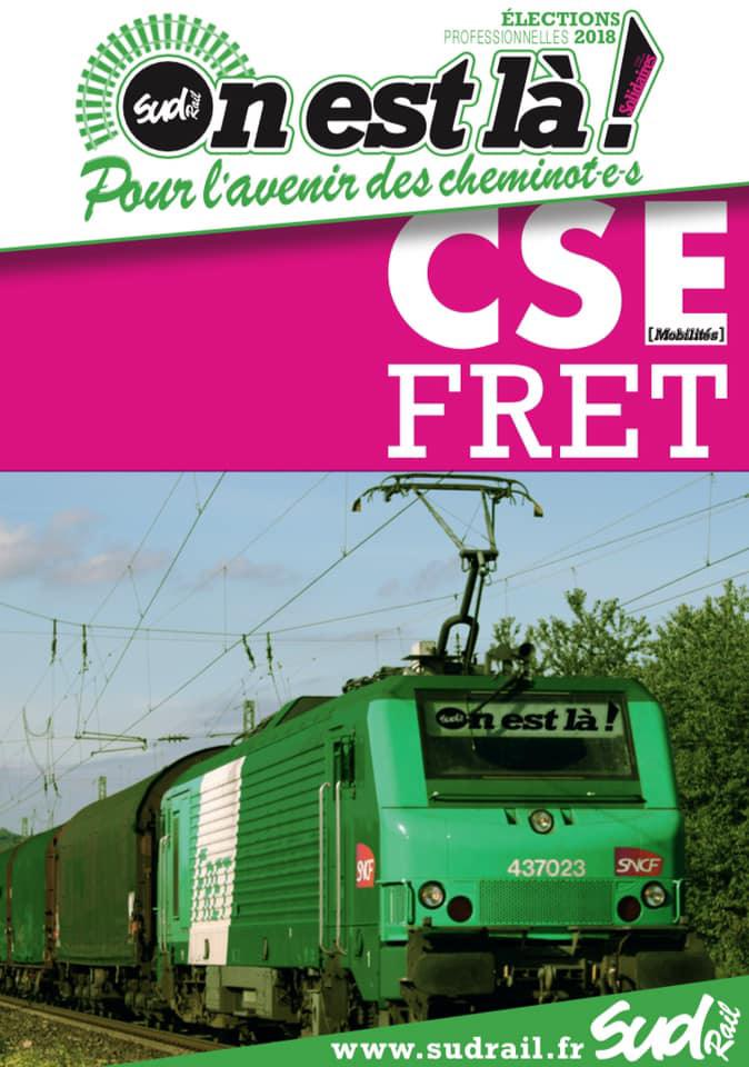 Listes des candidat(es) SUD Rail pour le CSE FRET