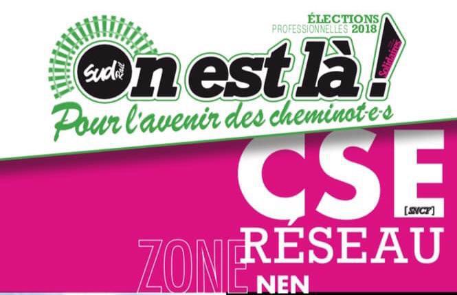 Listes des candidat(es) SUD Rail pour le CSE Réseau NEN