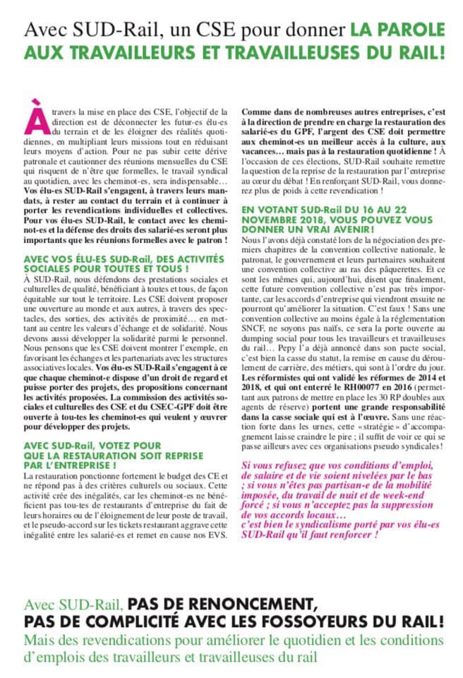 Listes des candidat(es) SUD Rail sur le CSE Réseau Siège réseau + Clients & Services