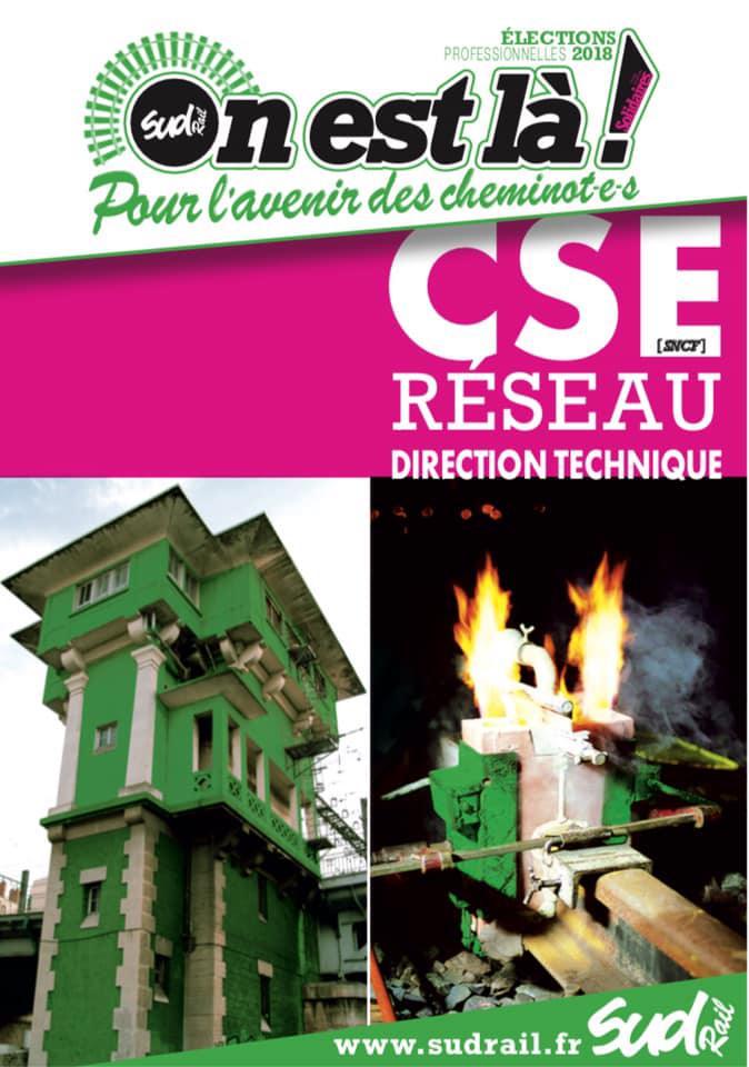 Listes des candidat(es) SUD Rail pour le CSE Réseau Direction Technique