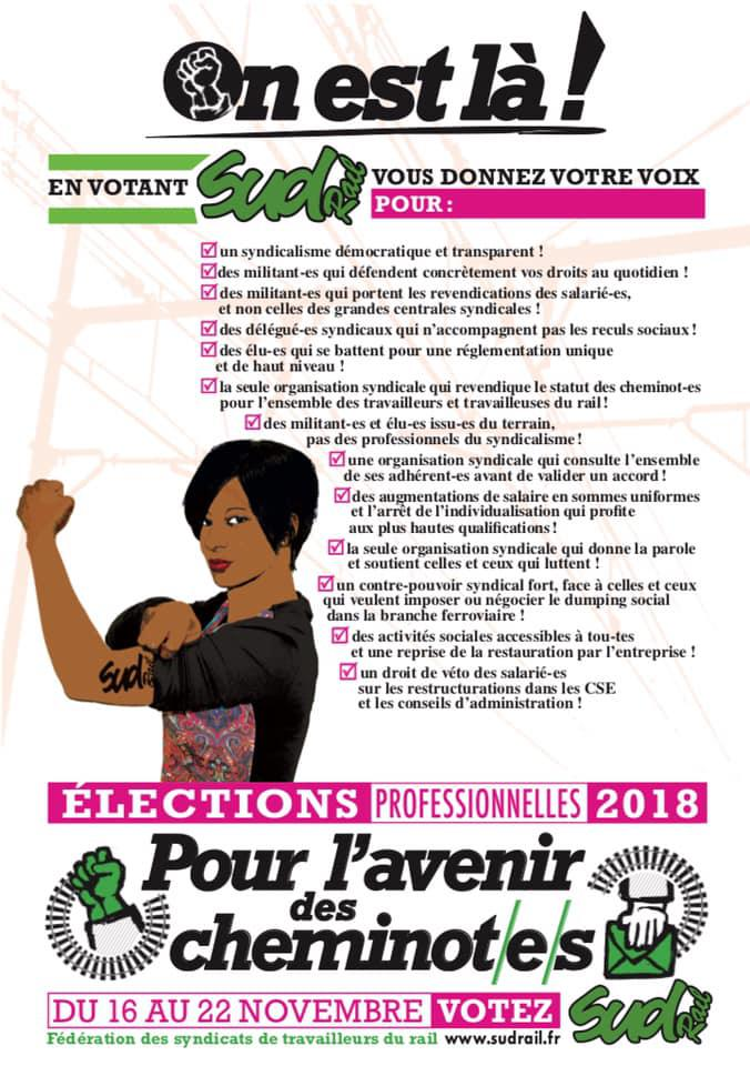 Listes des candidat(es) SUD Rail pour le CSE Réseau Île de France