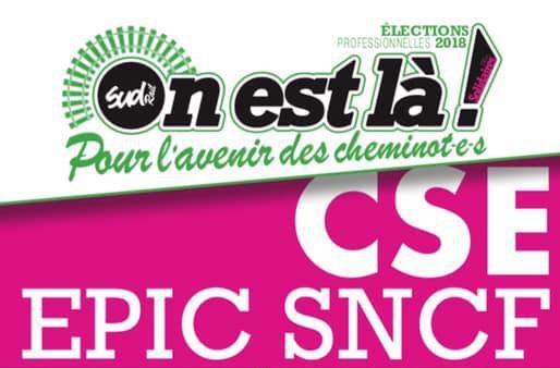 Listes des candidat(es) SUD Rail pour le CSE EPIC SNCF
