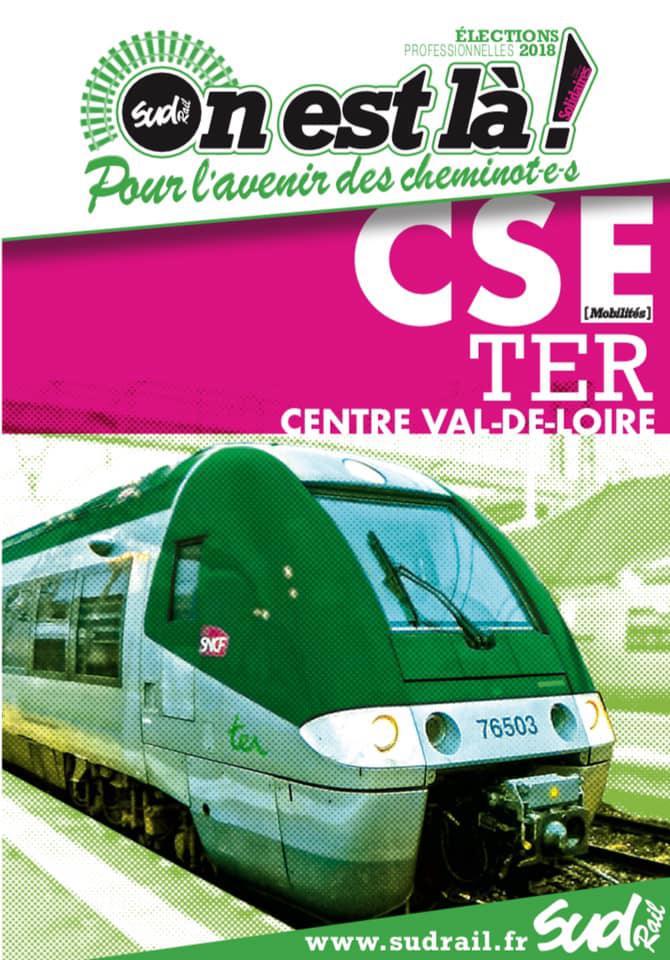 Listes des candidat(es) SUD Rail sur le CSE TER Centre Val de Loire