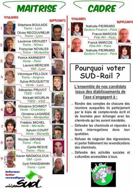 Paris Sud Est, Dijon, Lyon, Chambéry, Marseille, Montpellier. On est là !