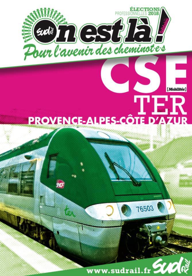 Listes des candidat(es) SUD Rail pour le CSE TER PACA