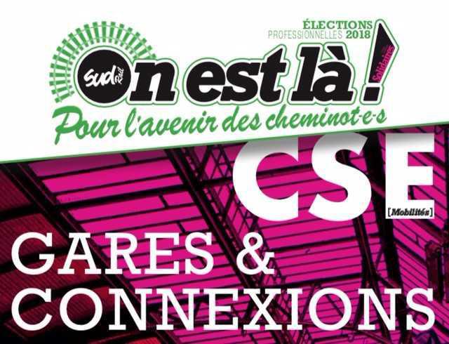 Listes des candidat(es) SUD Rail pour le CSE Gares & Connexions