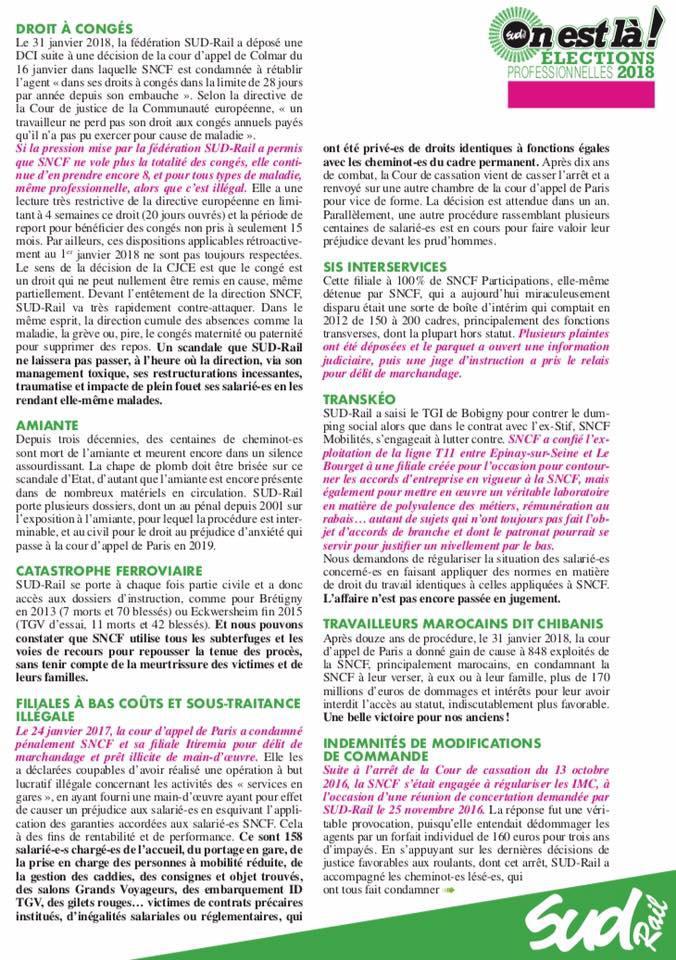 Bilan des actions juridiques de la fédération SUD Rail