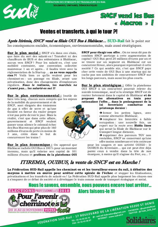 """SNCF vend les BUS """"Macron"""" !"""