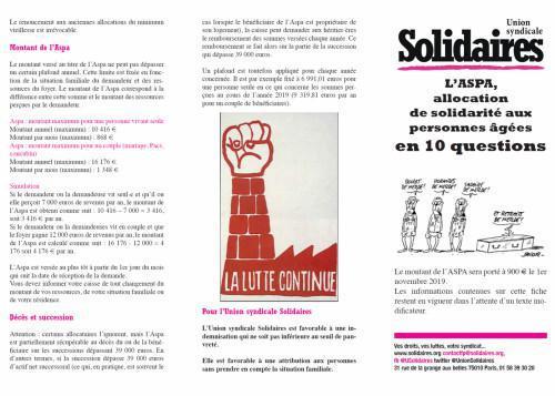 L'ASPA, allocation de solidarité aux personnes âgées en 10 questions