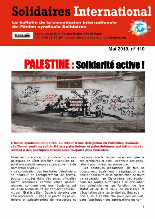 Solidaires international n° 110 - mai 2019