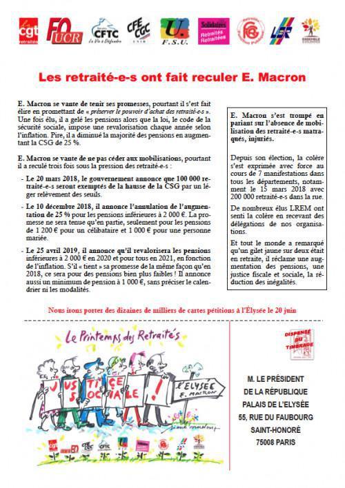 Les retraité-es ont fait reculé Macron, mais...