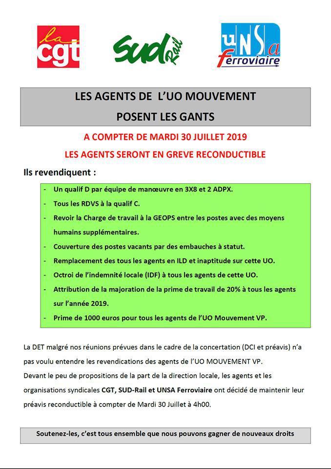 Les agents de l'UO Mouvement posent les gants
