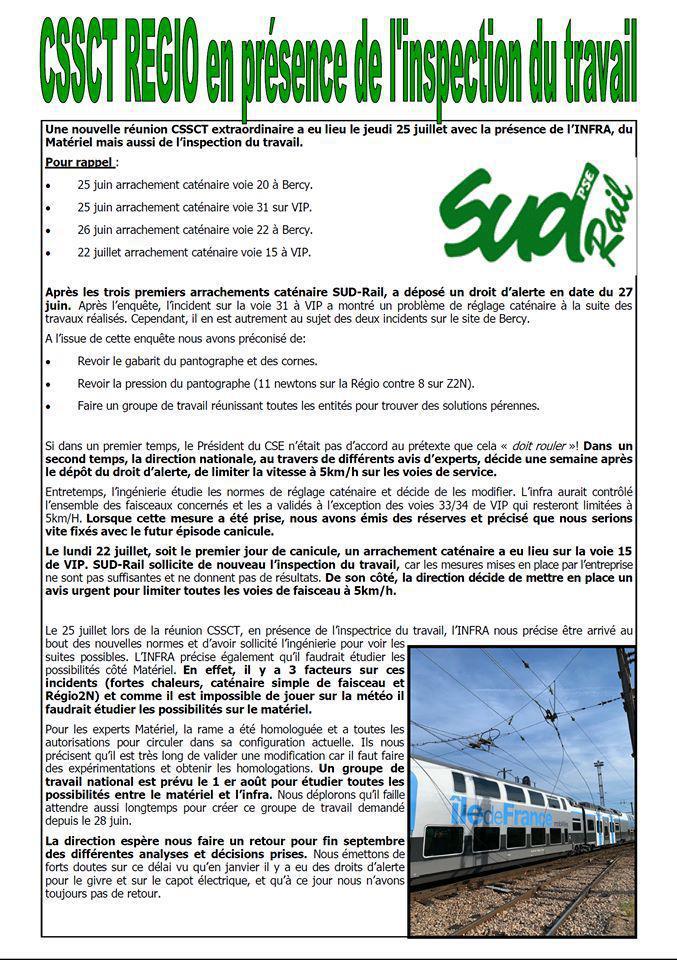 CSSCT REGIO en présence de l'inspection du travail