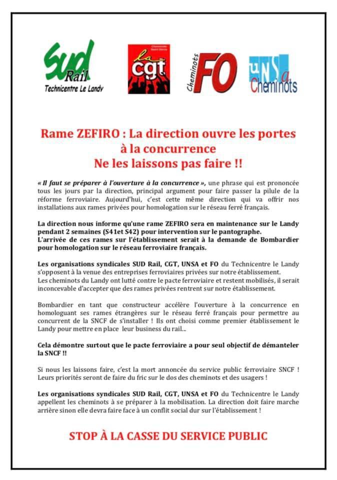 Rame Zefiro : La direction ouvre les portes à la concurrence