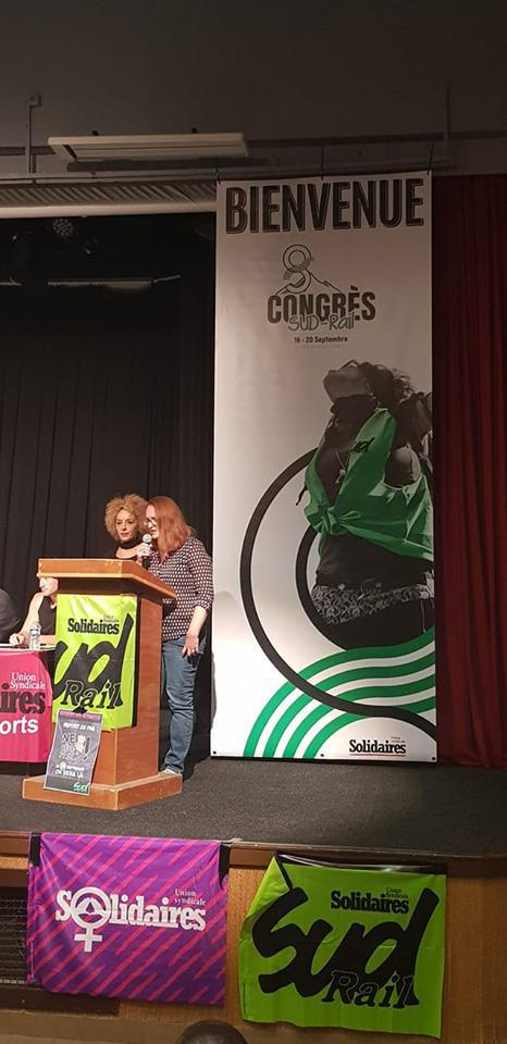 """Photos : 8ème Congrès de la Fédération des Syndicats SUD-Rail aux """"Karellis""""."""