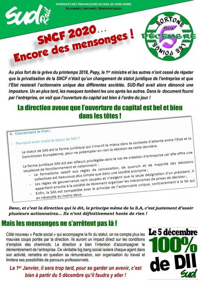 SNCF 2020...Encore des mensonges !