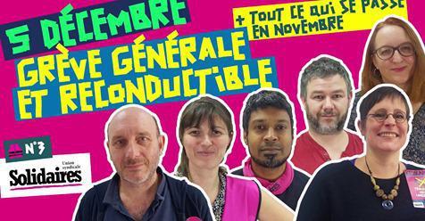 Vidéo : Convergeons ! Grève générale et reconductible à partir du 5 décembre !