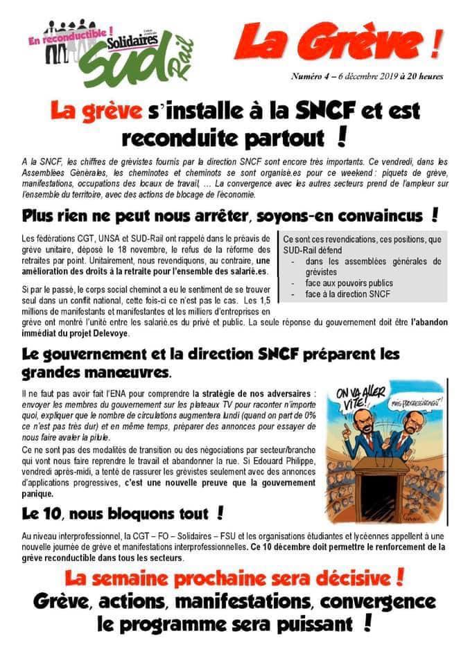 Numéro 4 : La grève s'installe à la SNCF et est reconduite partout !