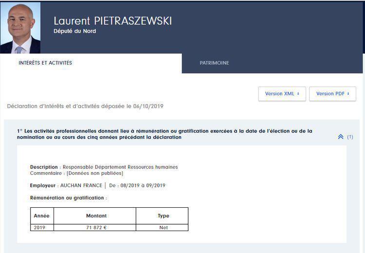 Laurent Pietraszewski, nouveau «M. Retraites», déjà rattrapé par un chèque mirobolant d'Auchan