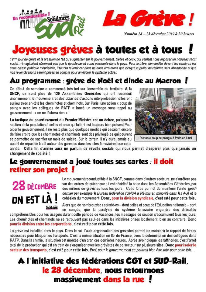 Numéro 18 : Joyeuses grèves à toutes et à tous !