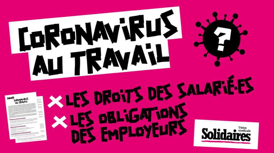 Coronavirus au travail