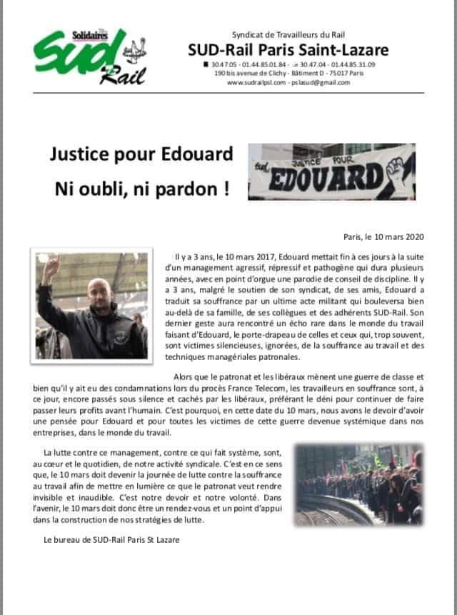Justice pour Edouard. Ni oubli, ni pardon !