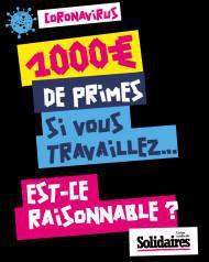 1 000 euros de primes si vous travaillez ! Est-ce raisonnable ?