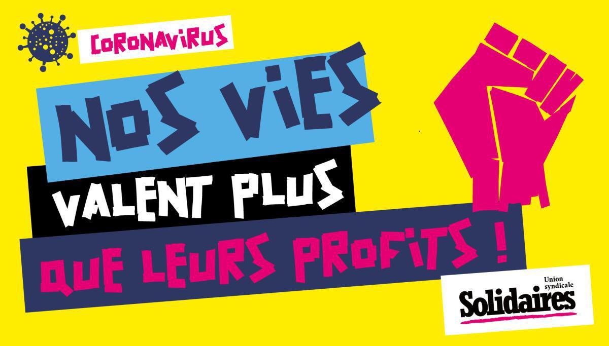 Syndicalistes, agir contre le capitalovirus #1