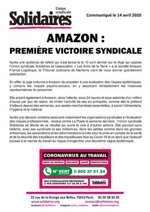 AMAZON : Première Victoire Syndicale